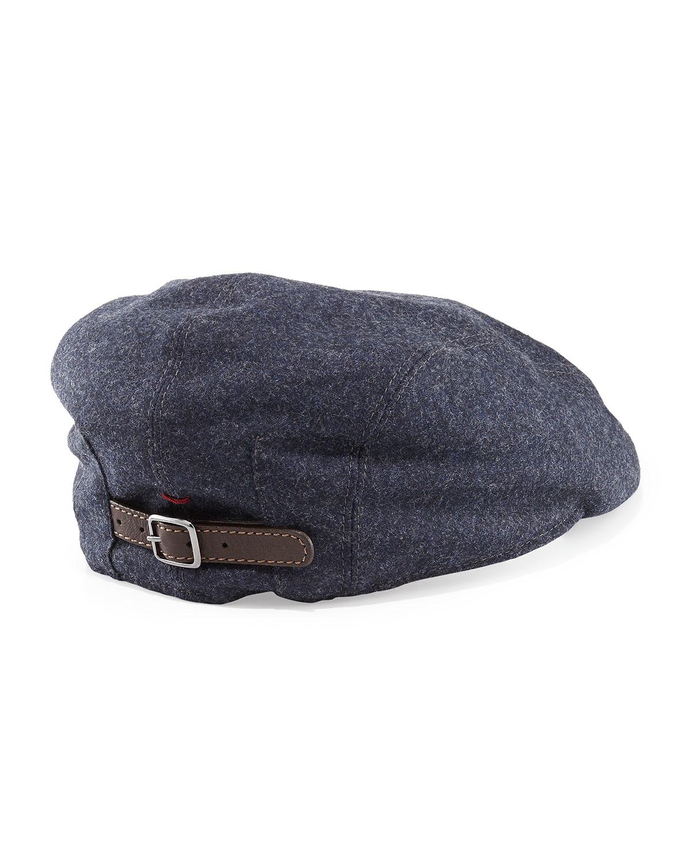 Lyst - Brunello Cucinelli Wool Driver Cap in Blue for Men 0a047f34e56c