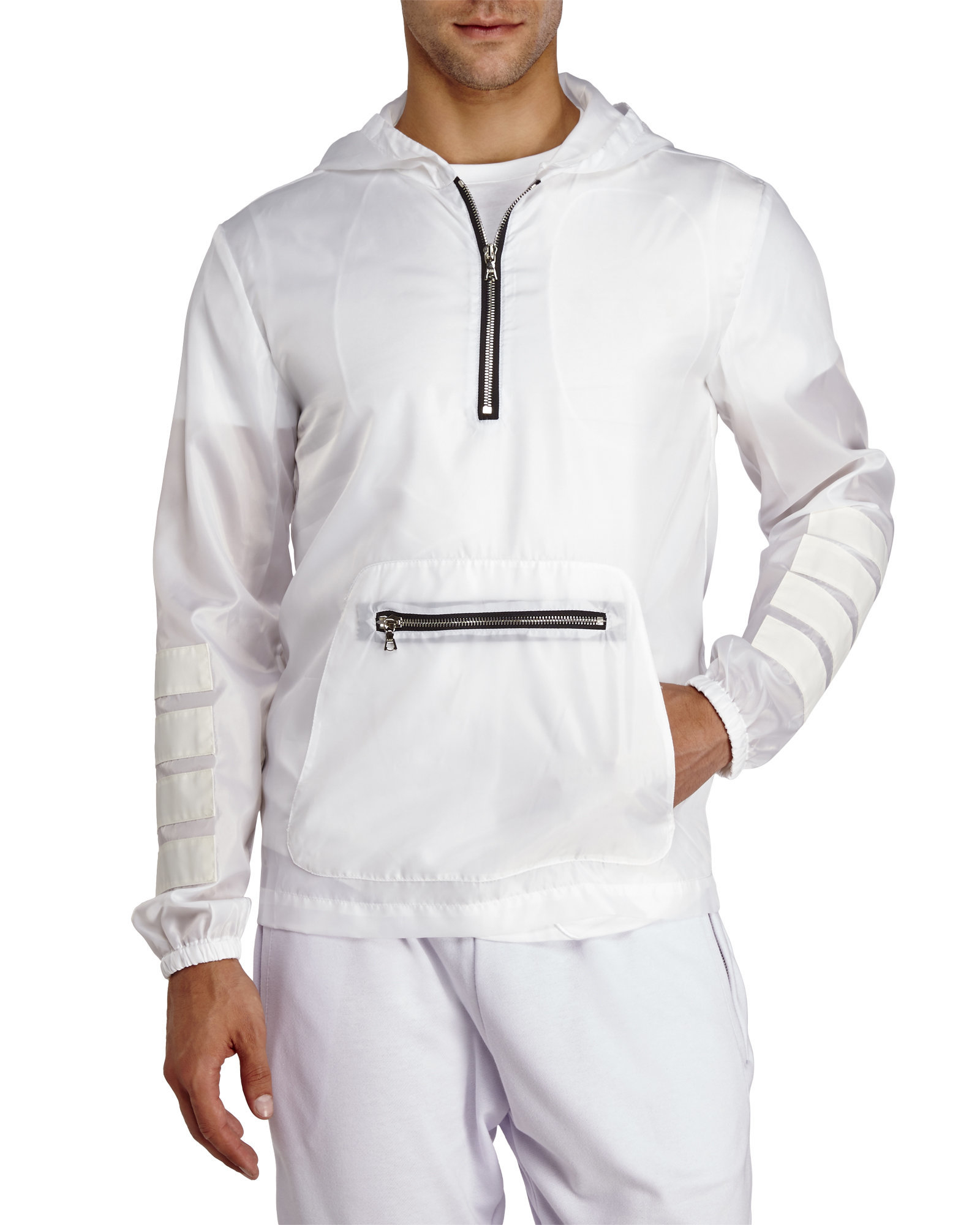 Courtesy of White Pullover Windbreaker in White for Men | Lyst