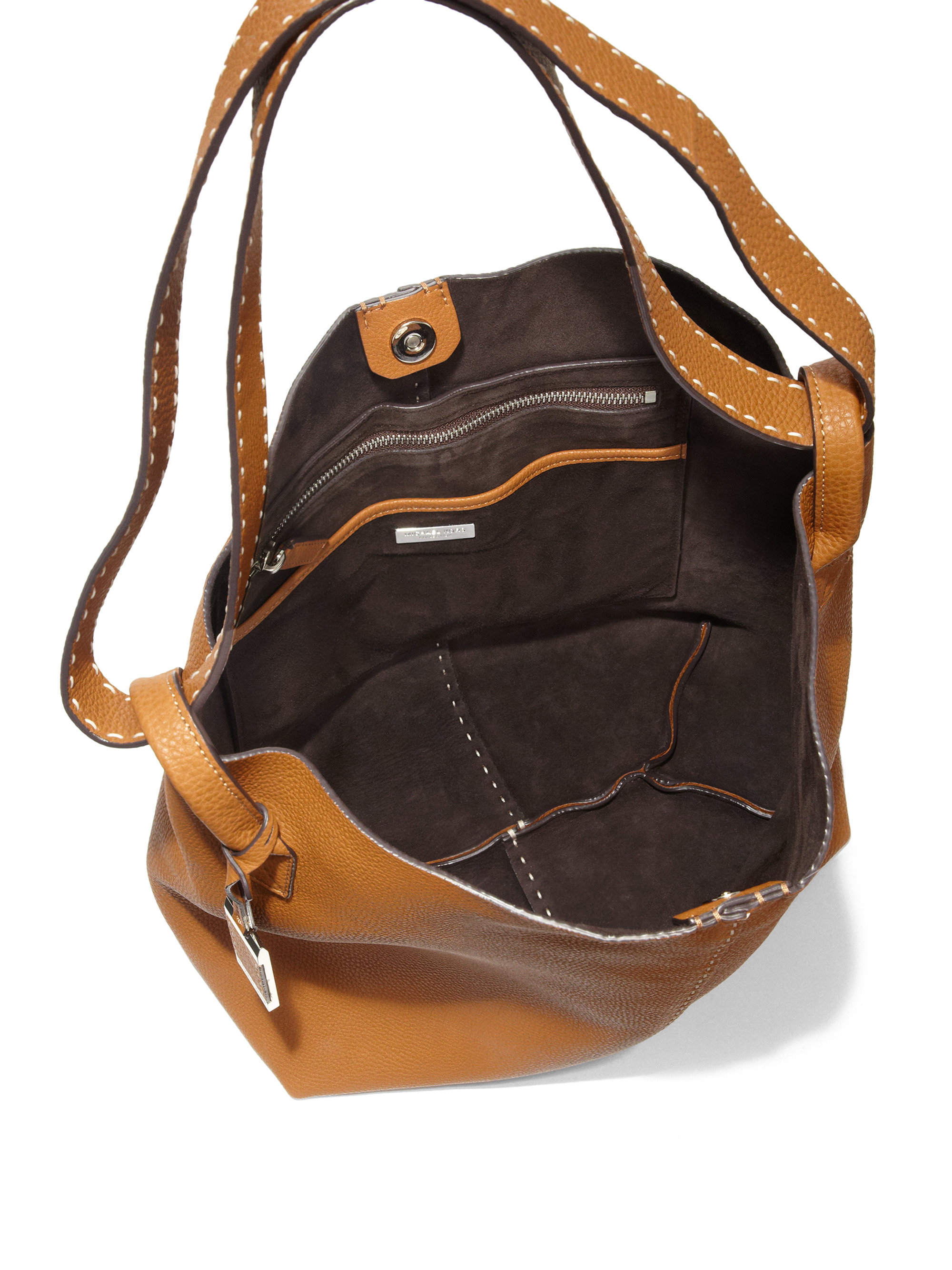 michael kors rogers large hobo bag in brown lyst. Black Bedroom Furniture Sets. Home Design Ideas