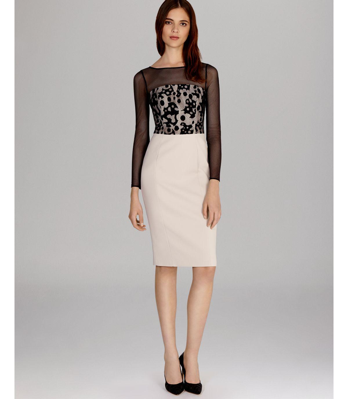 Lyst - Karen Millen Dress Camouflage Lace in Black