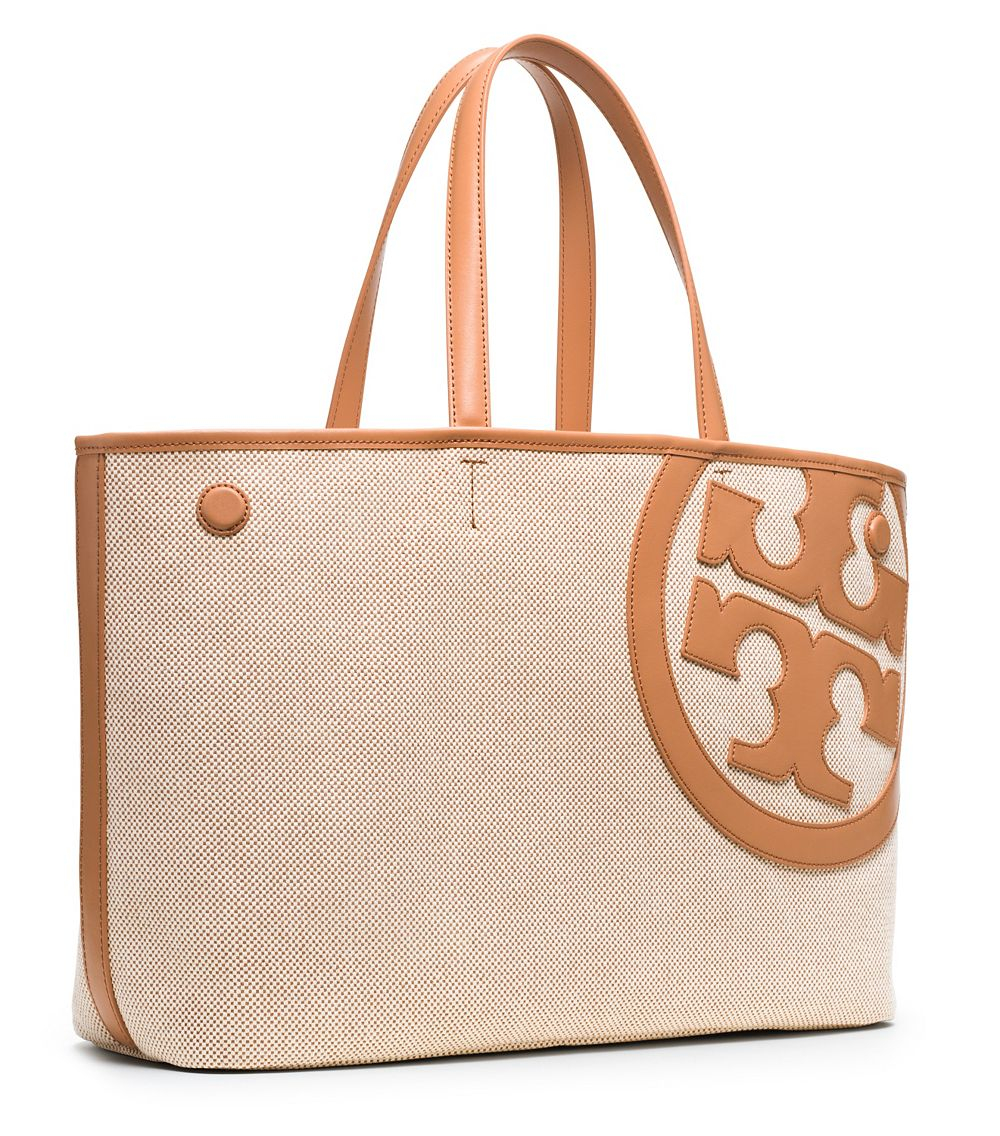 be5a27e6ea0f Lyst - Tory Burch Lonnie Canvas Tote in Natural