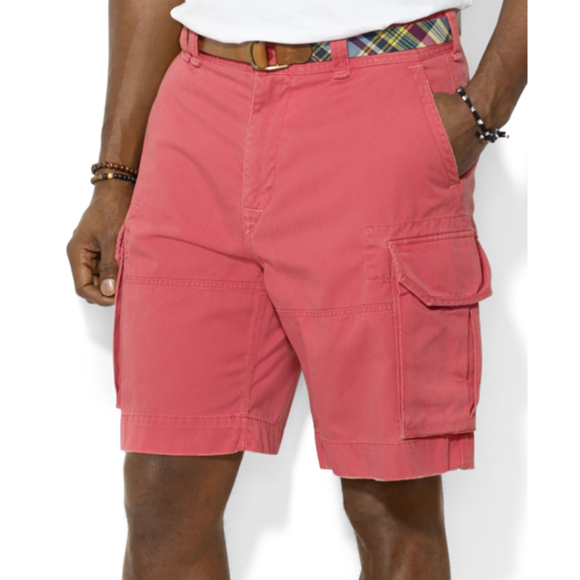 Polo ralph lauren Polo Big and Tall Gellar Cargo Shorts in Red for ...