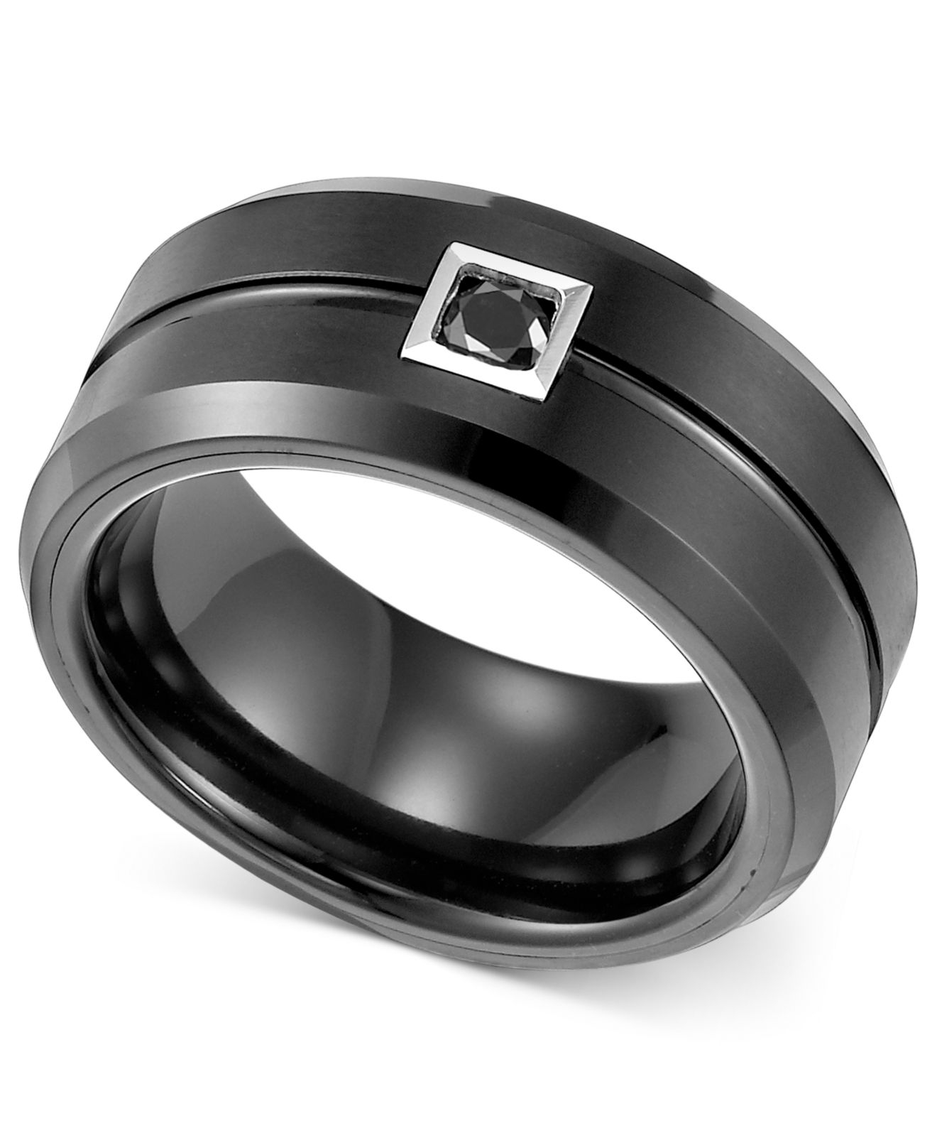 triton black diamond wedding band 1 10 ct t w in black lyst