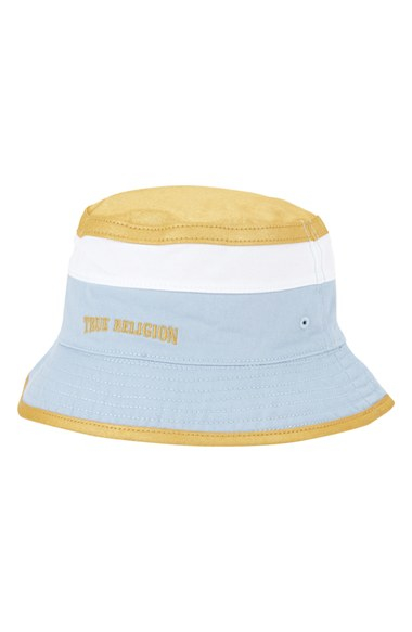 Lyst - True Religion Colorblock Bucket Hat in Green for Men 1aeb86d84dd6