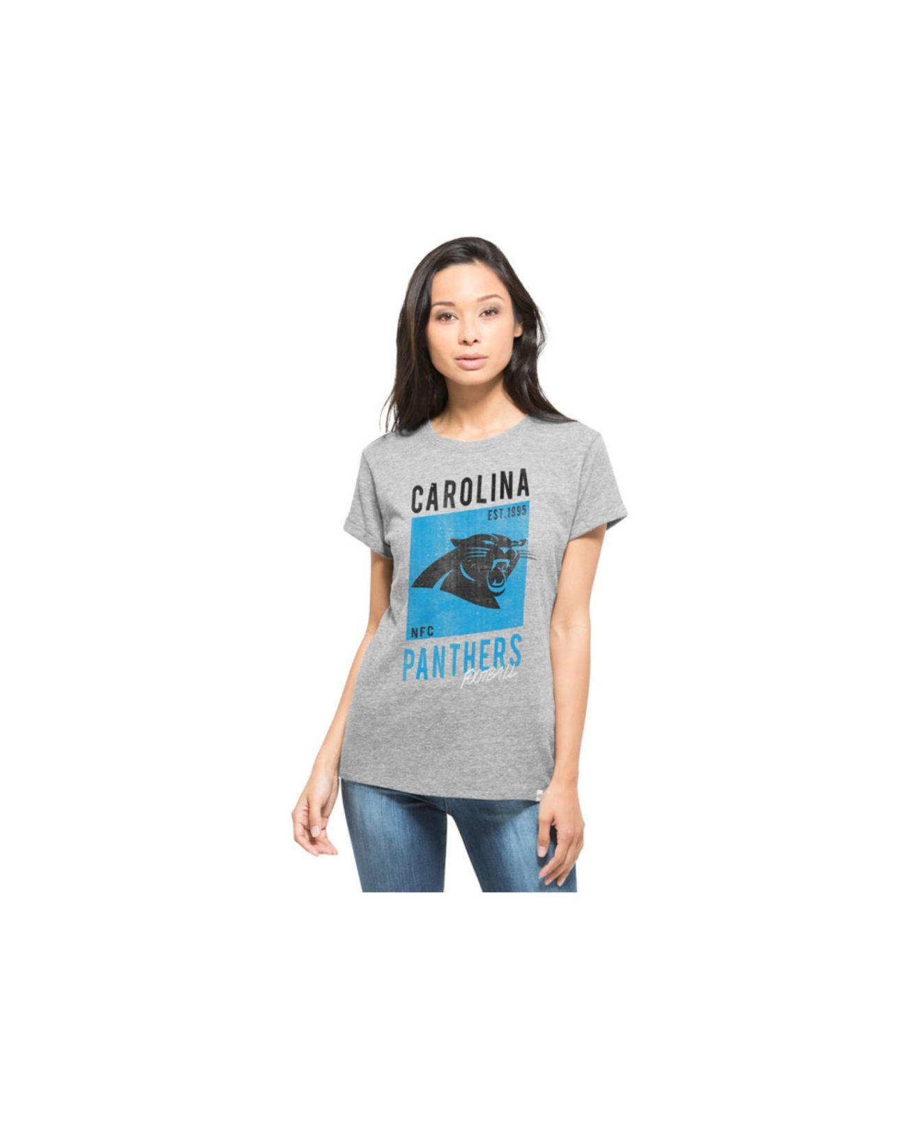 Lyst 47 Brand Women 39 S Carolina Panthers Hero T Shirt In Gray