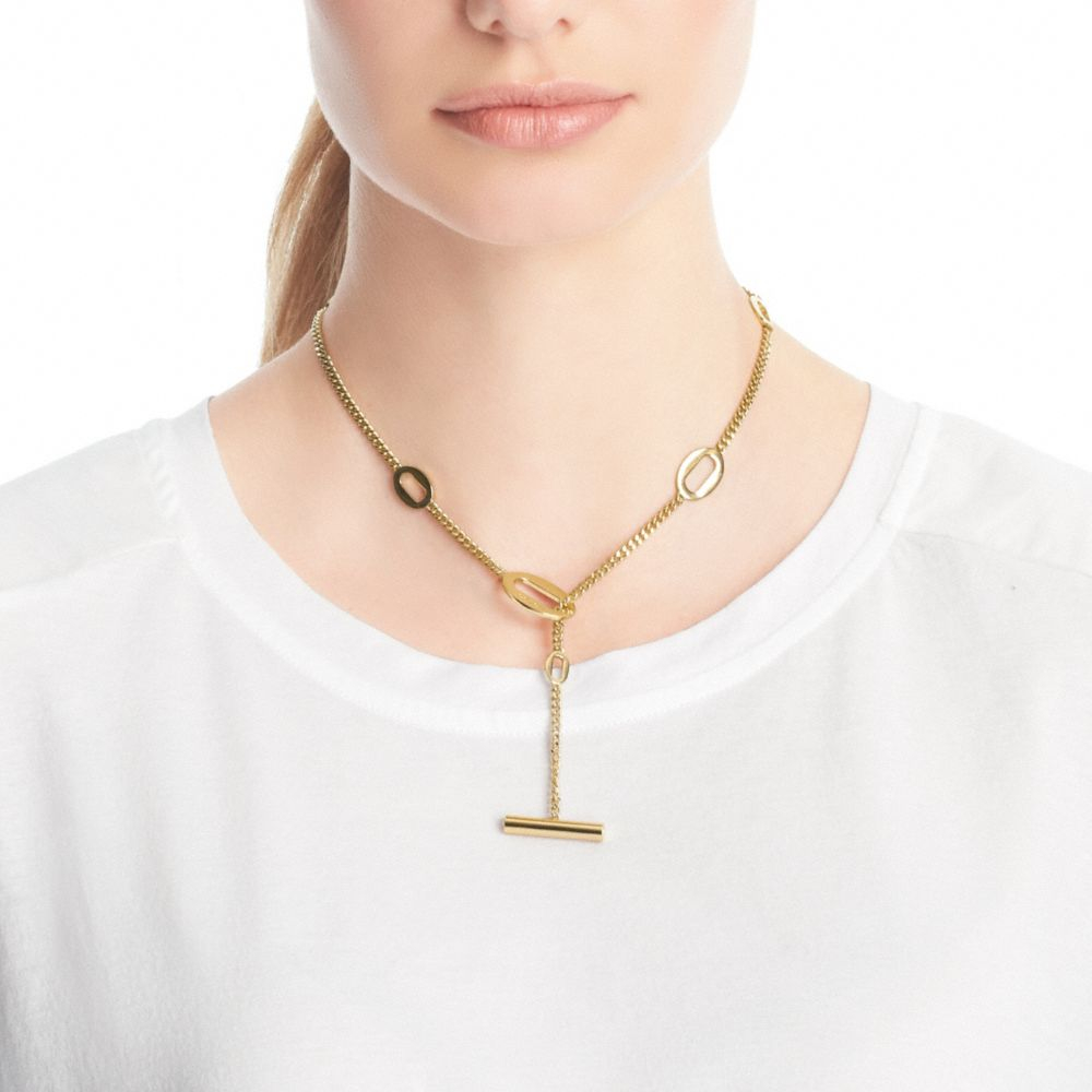 oval shirt necklace with necklaces gold link chain charmsbasic charms plated