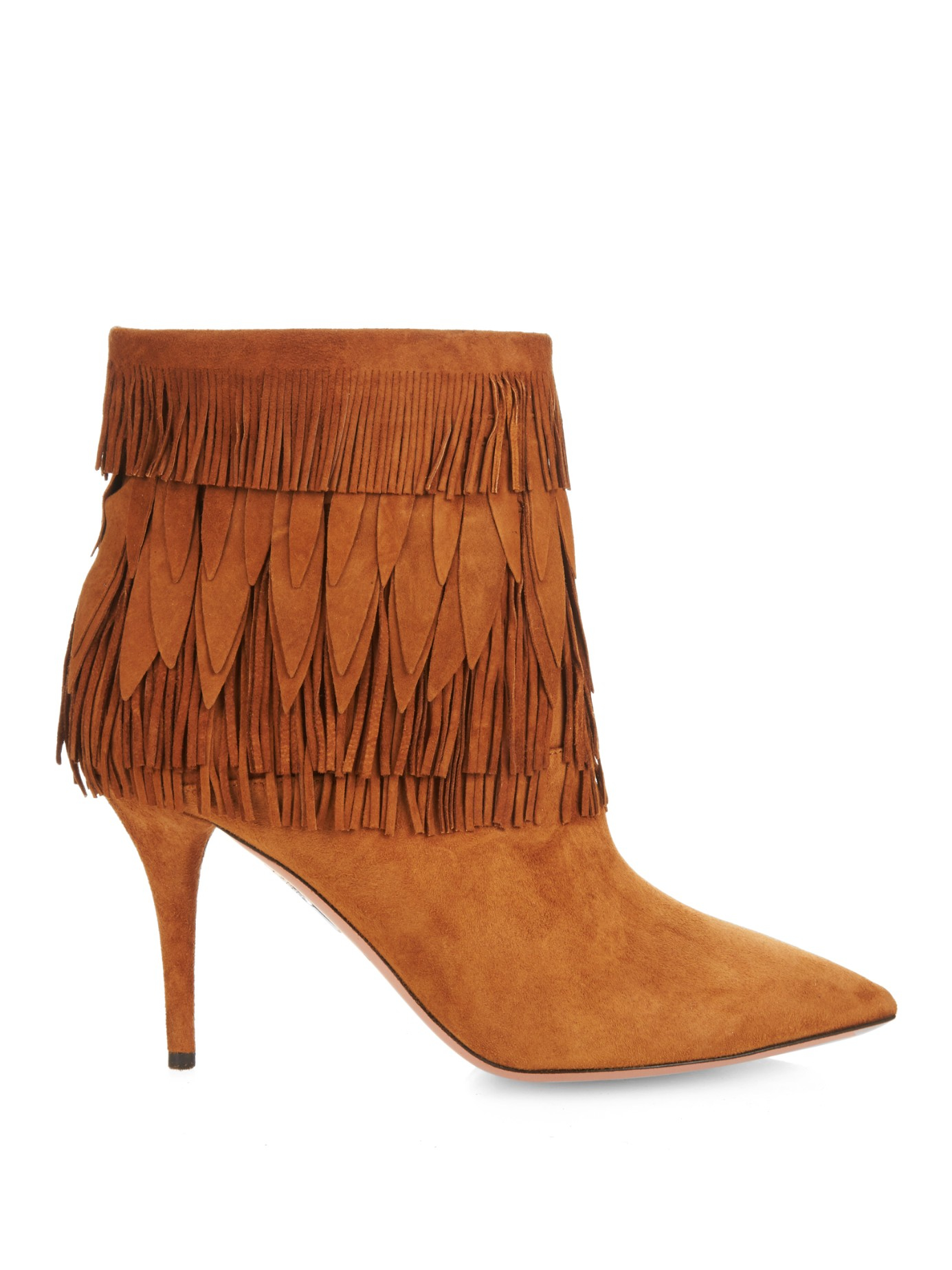 Aquazzura Fringe Ankle Boots discount outlet store h1KLwUOiS