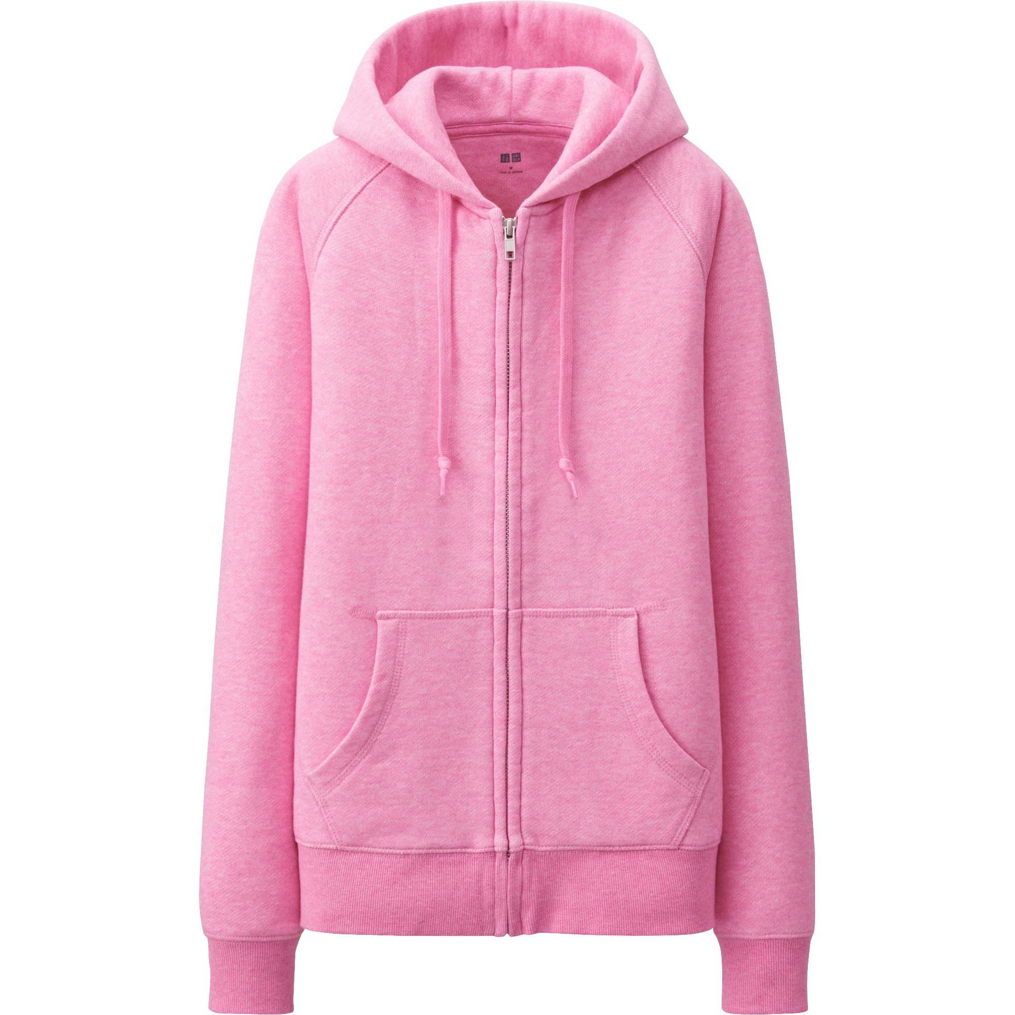 Uniqlo Women Sweat Long Sleeve Full Zip Hooded Jacket In