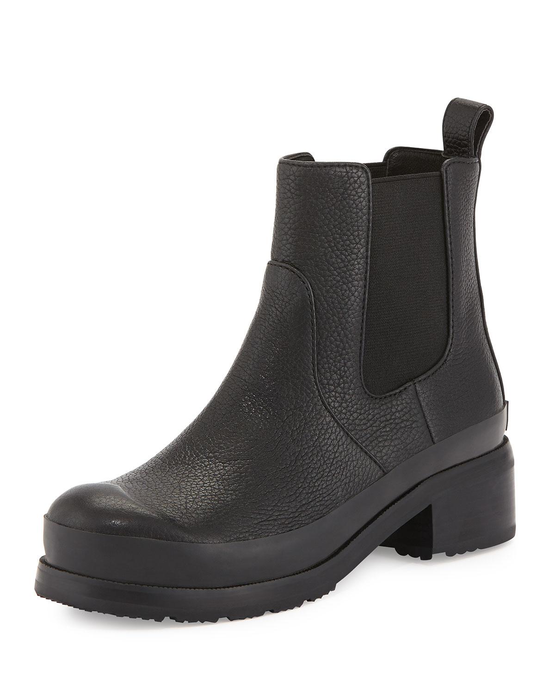 hunter original leather chelsea boots in black lyst. Black Bedroom Furniture Sets. Home Design Ideas