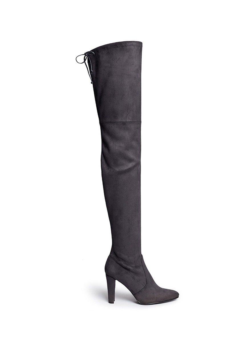 stuart weitzman all legs stretch suede thigh high boots