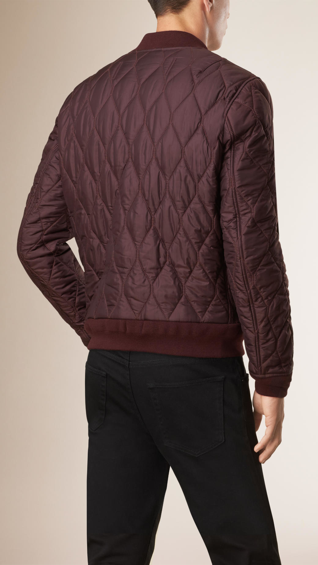 Lyst Jacket Lightweight In Quilted Men Purple Bomber Burberry For UOa8FqU