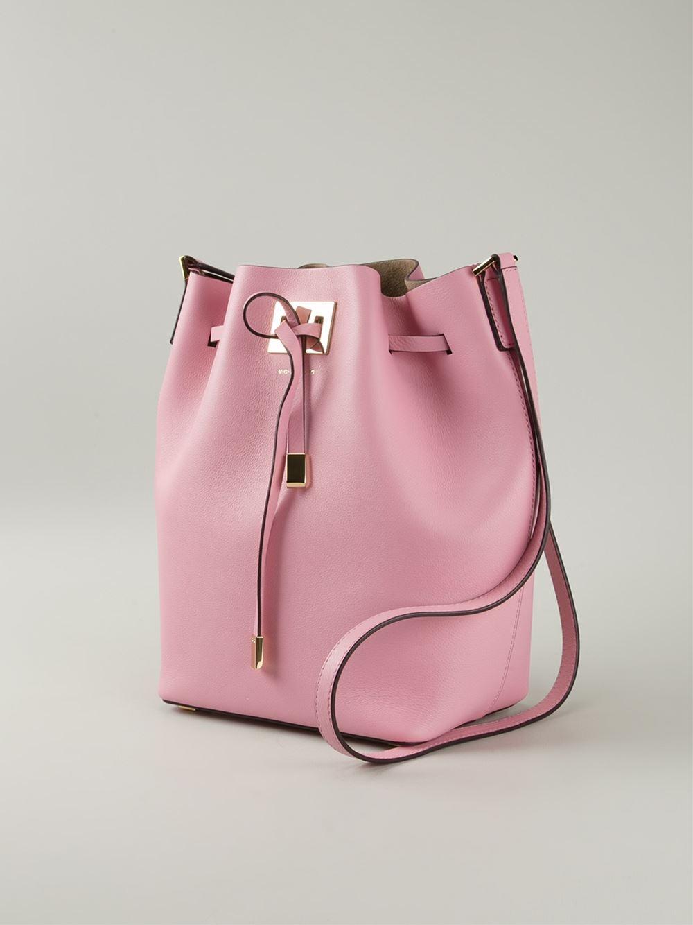 5adc2902ebfe67 Michael Kors 'Miranda' Bucket Bag in Pink - Lyst