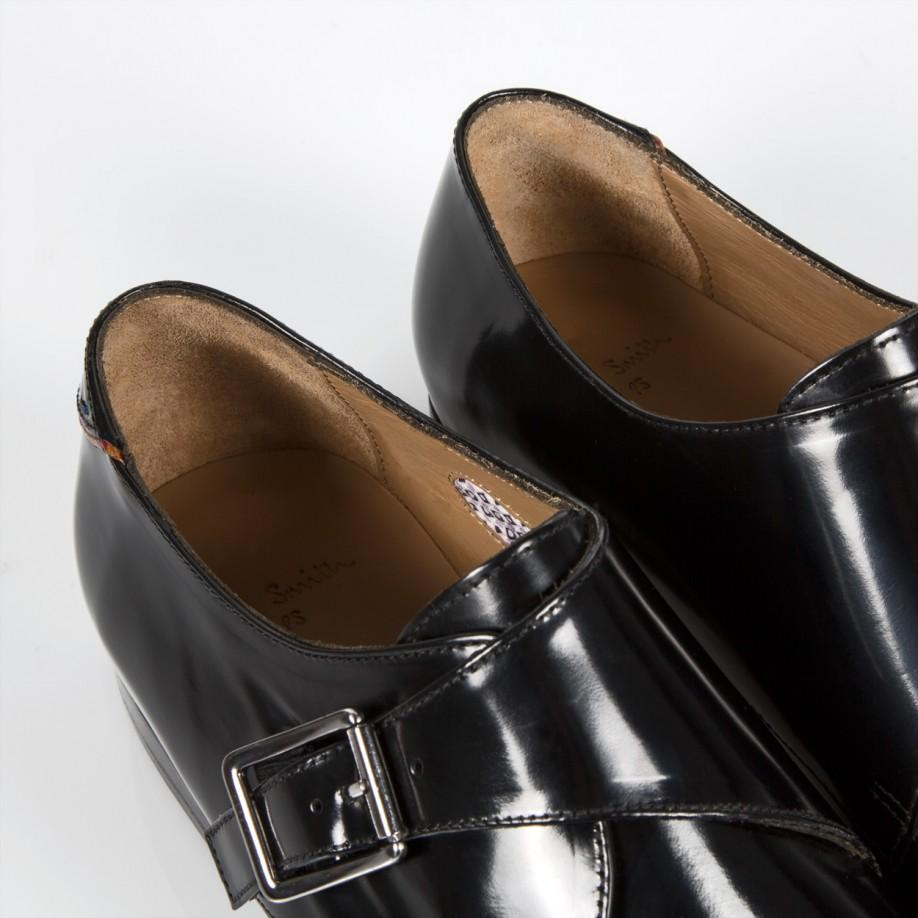 paul smith s black high shine leather wren shoes in
