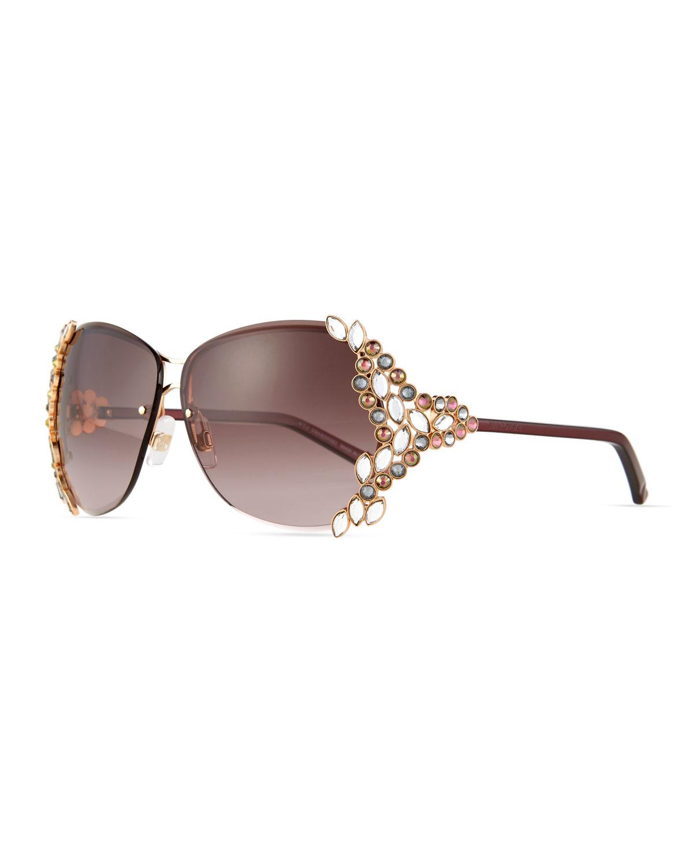 1e2da3a74a5 Lyst - Swarovski Special Edition Crystal Sunglasses in Metallic