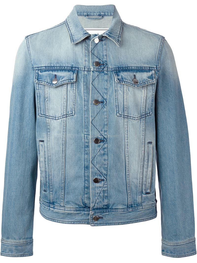 Ami Washed Denim Jacket in Blue for Men | Lyst