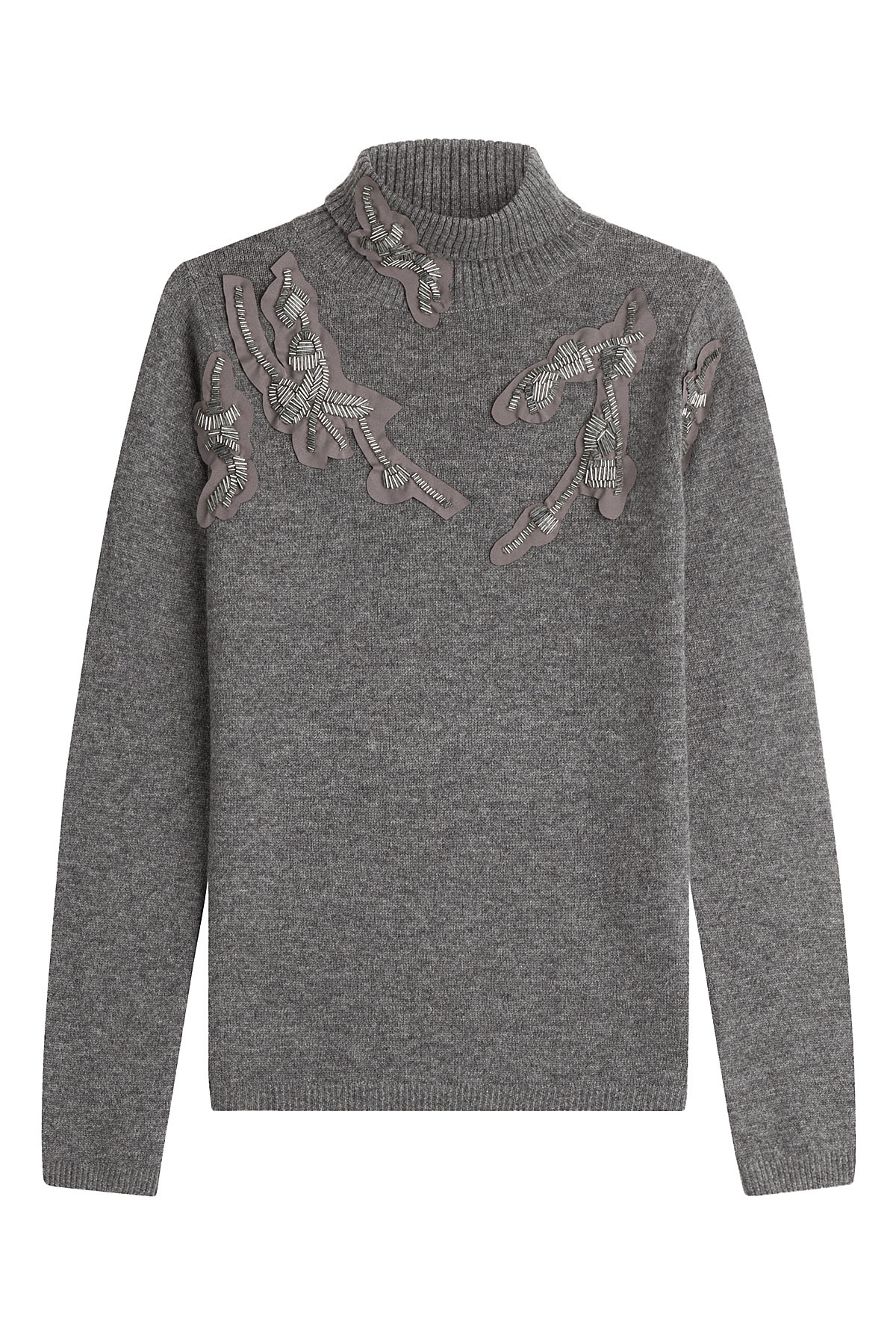 steffen schraut embellished cashmere pullover grey in gray lyst. Black Bedroom Furniture Sets. Home Design Ideas