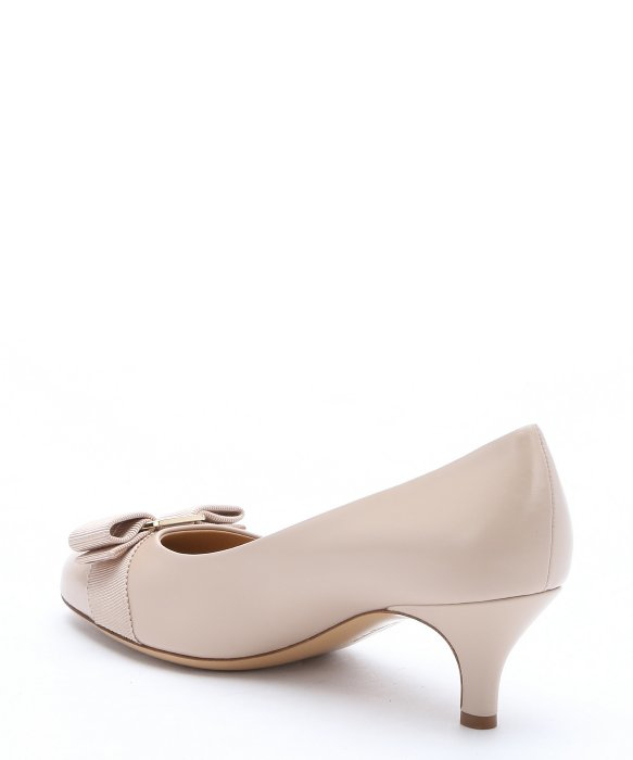 6380d998ceb Ferragamo New Bisque Leather  Carla 55  Bow Detail Pumps in Natural ...