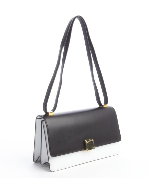 d9ac8033045 ... super cheap 19338 1690c Lyst - Céline Black and White Calfskin Crossbody  Bag in Blac ...