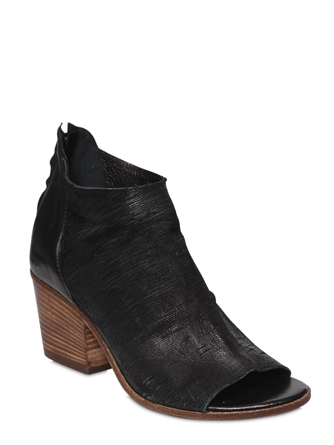 fru it 60mm open toe leather ankle boots in black save