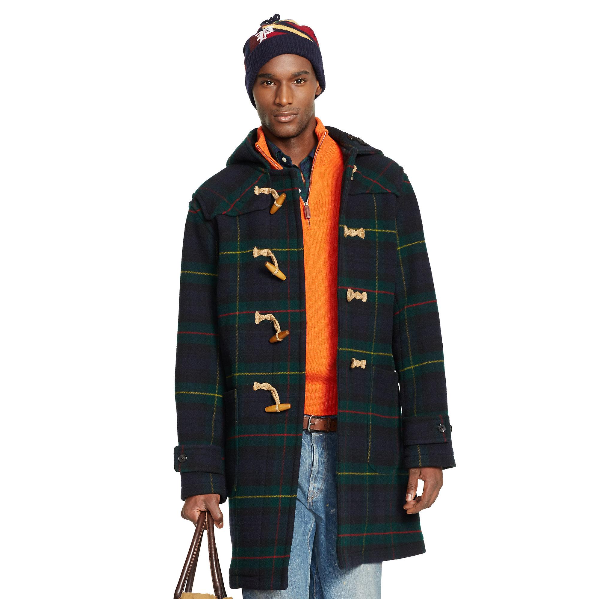 Ralph lauren black wool coat