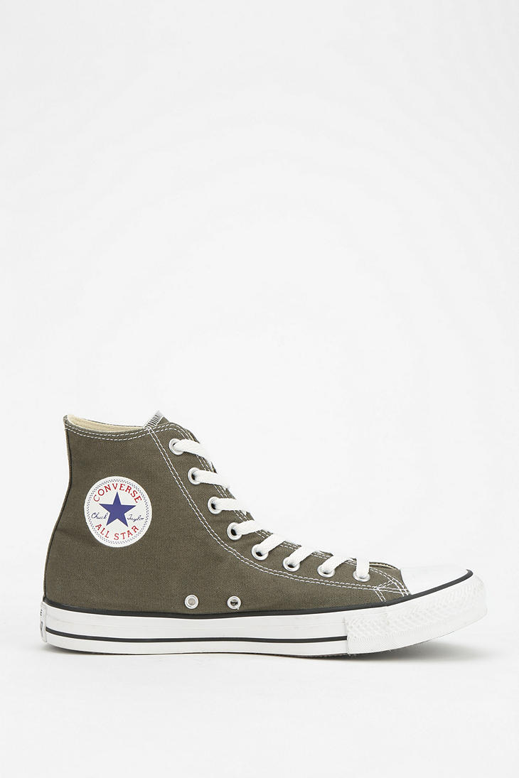5ea283845ed ... italy lyst converse chuck taylor all star womens hightop sneaker in  green 1f0be 7f7de