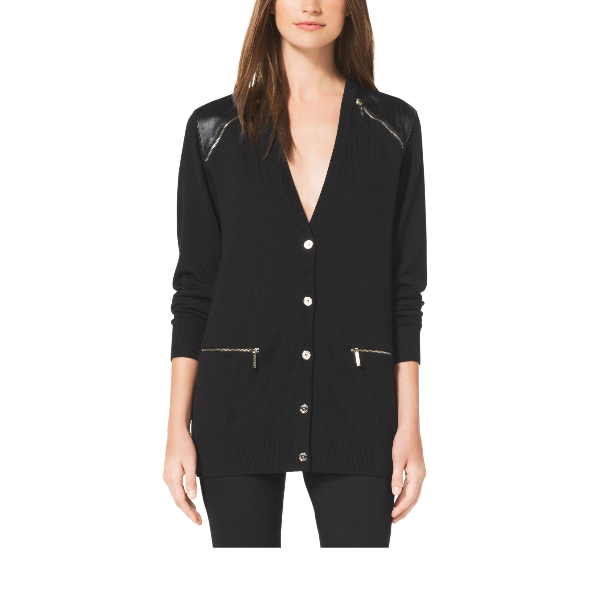 Shop leather trim sweater at Neiman Marcus, where you will find free shipping on the latest in fashion from top designers.