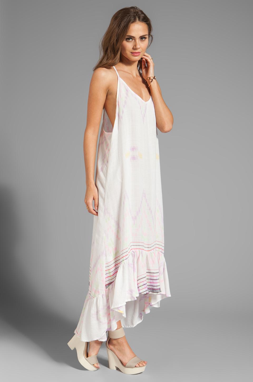 b3db3dd20c Lyst - Indah Leyti Hi-Low Ruffle Sundress in White