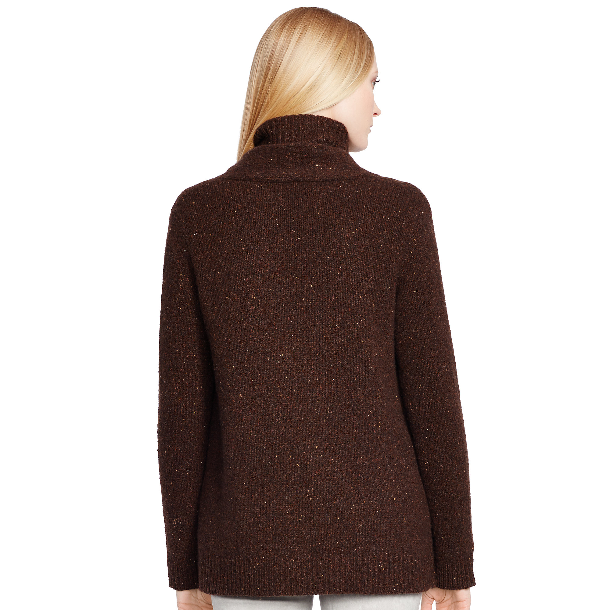 Ralph lauren black label Cashmere Open-front Cardigan in Brown | Lyst