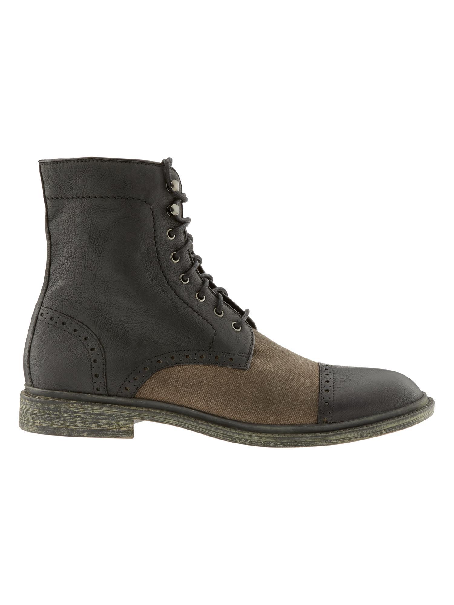 banana republic maxwell boot in gray for grey