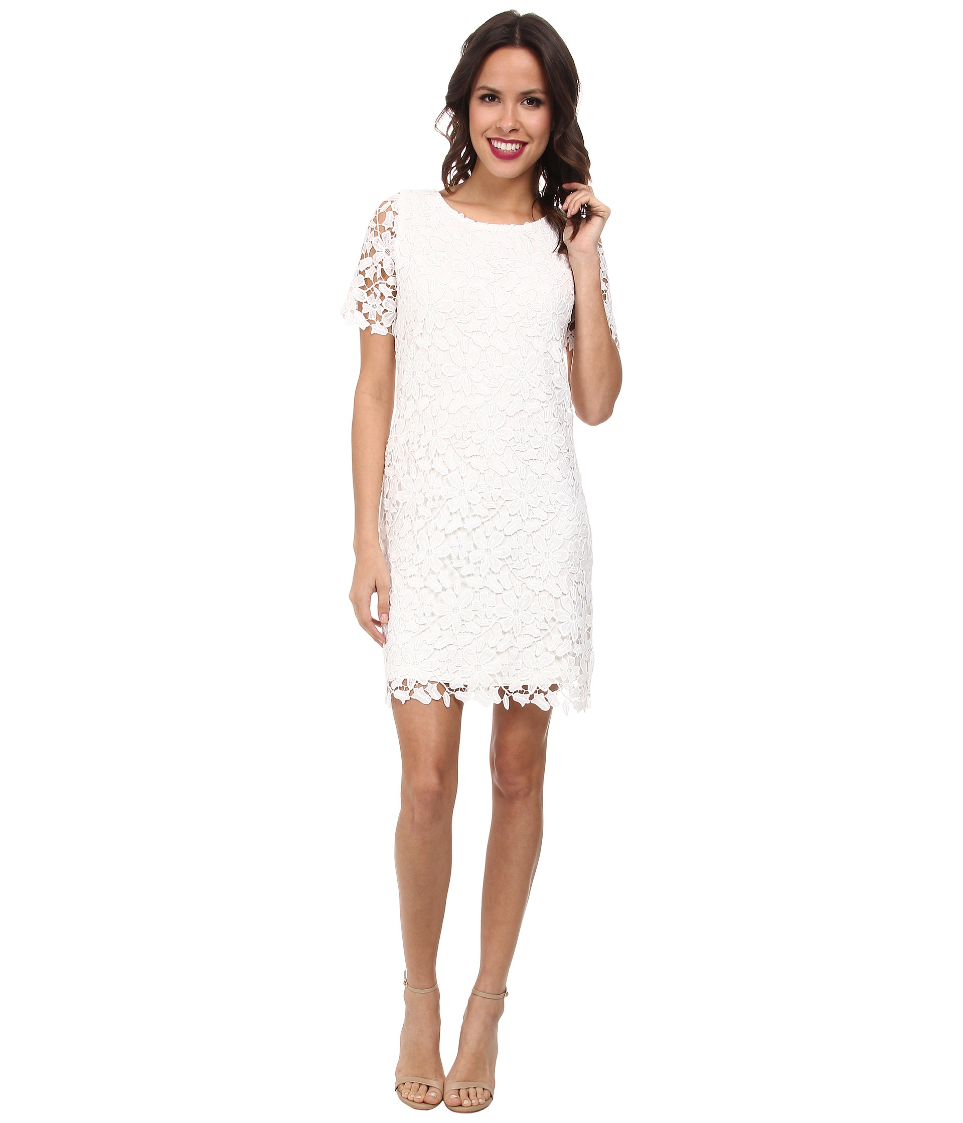 f4e1bfb113 Lyst - Kut From The Kloth Allover Lace Dress in White