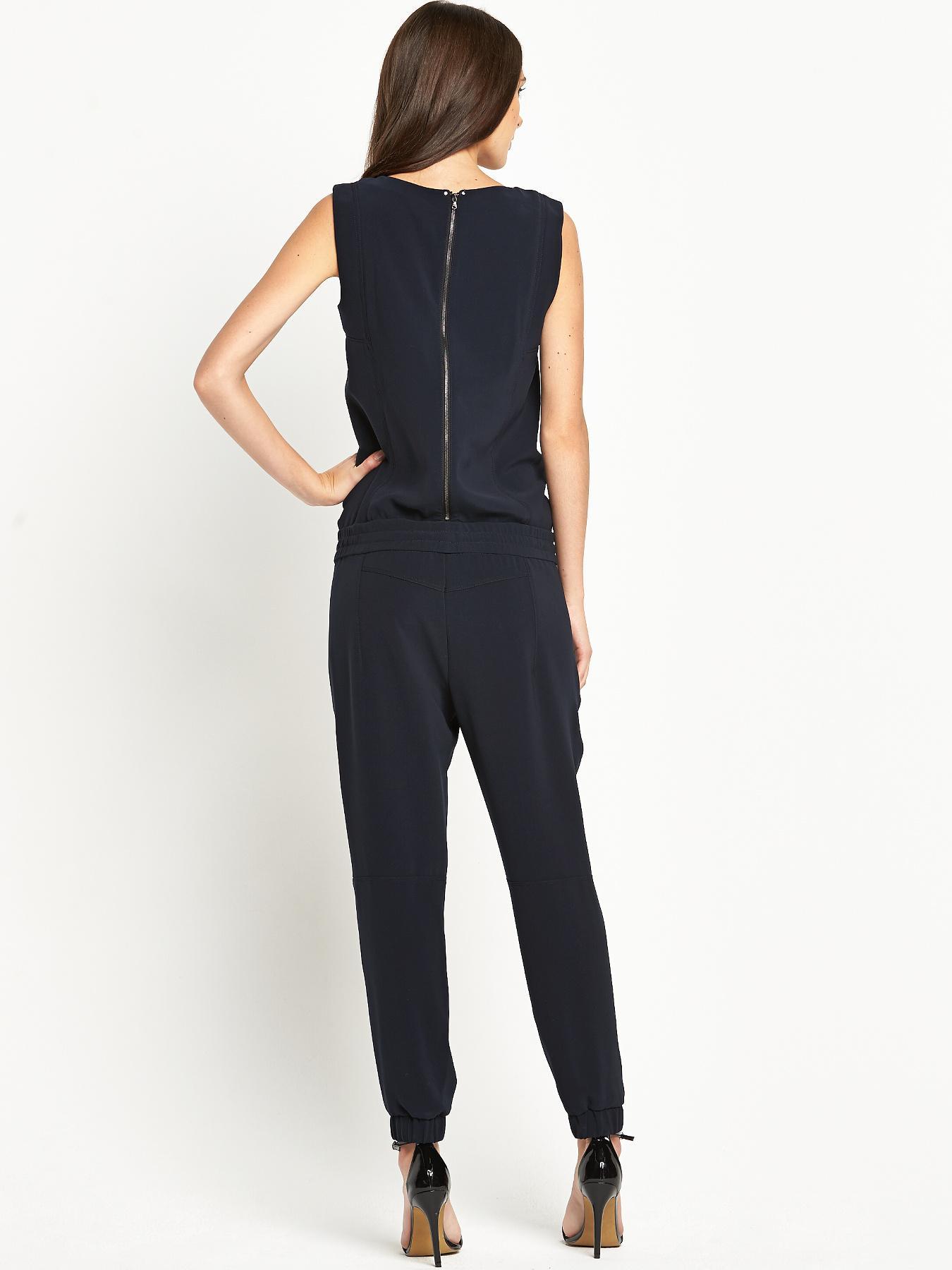 g star raw numu jumpsuit in blue mazarine blue lyst. Black Bedroom Furniture Sets. Home Design Ideas