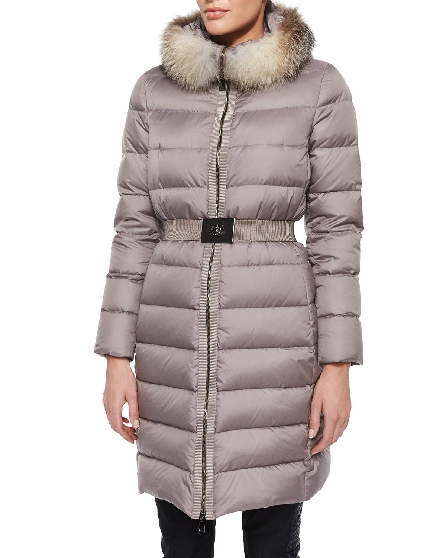 moncler coat with belt