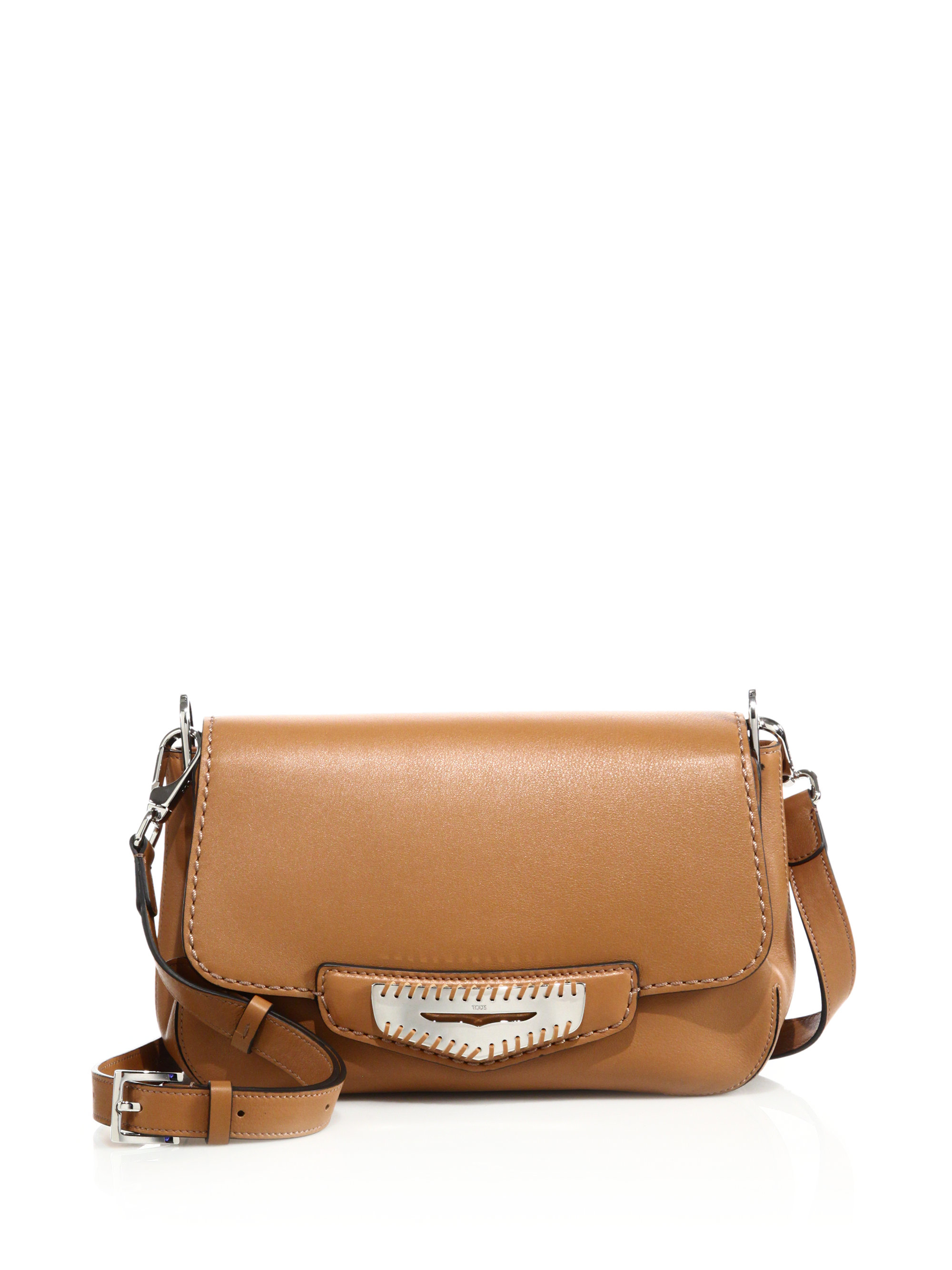 2d929eebcf9d Tod's Whipstitched Leather Crossbody Bag in Brown - Lyst