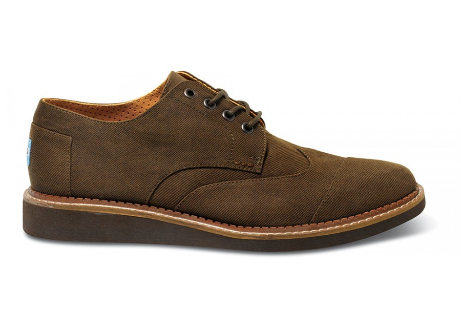 ae98d9f2094 Lyst - TOMS Chocolate Aviator Twill Mens Brogues in Brown for Men
