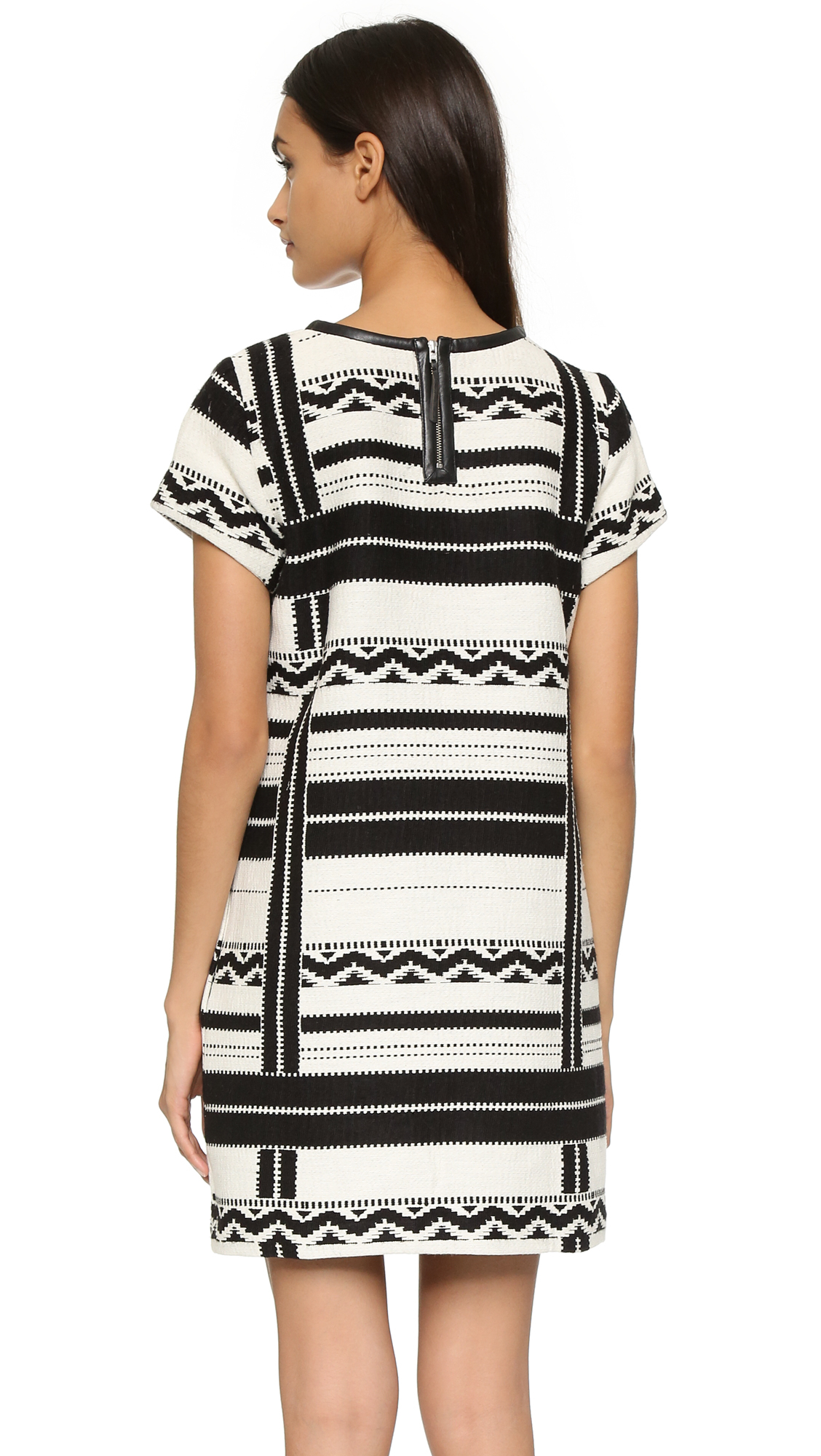 Lyst Madewell Short Sleeve Dress In Black