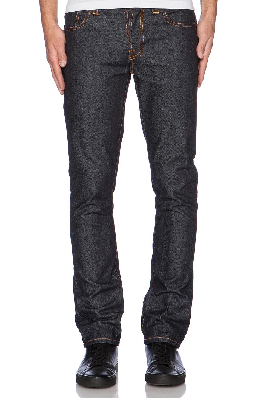 nudie jeans grim tim in blue for men lyst. Black Bedroom Furniture Sets. Home Design Ideas