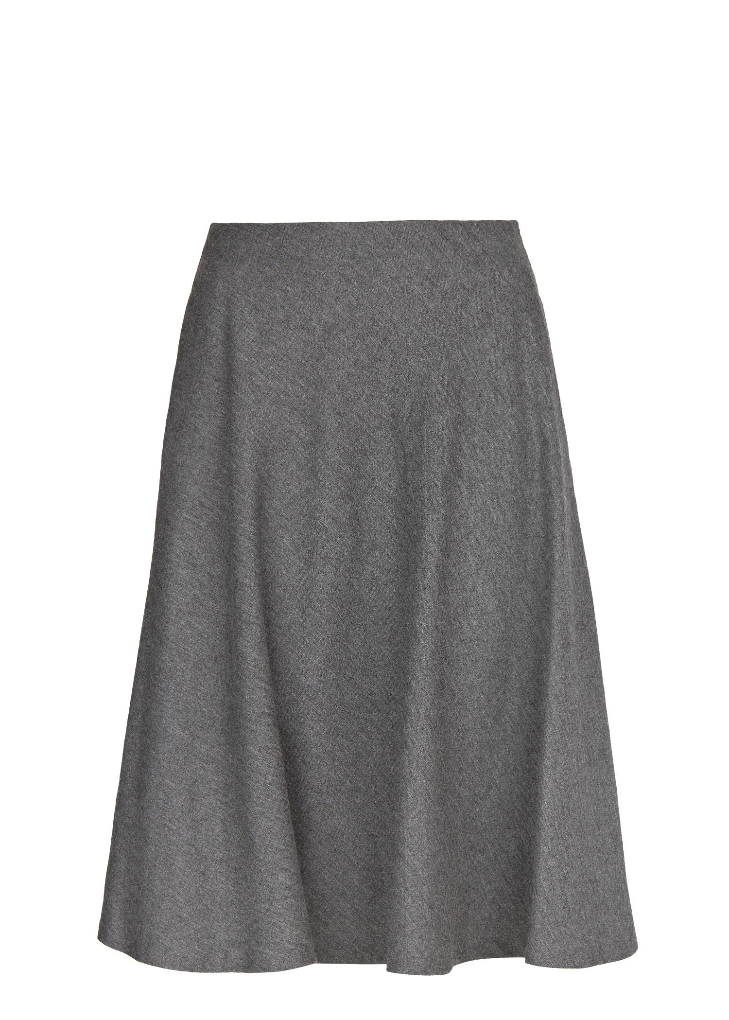 Mango Premium Flared Midi Skirt in Gray | Lyst