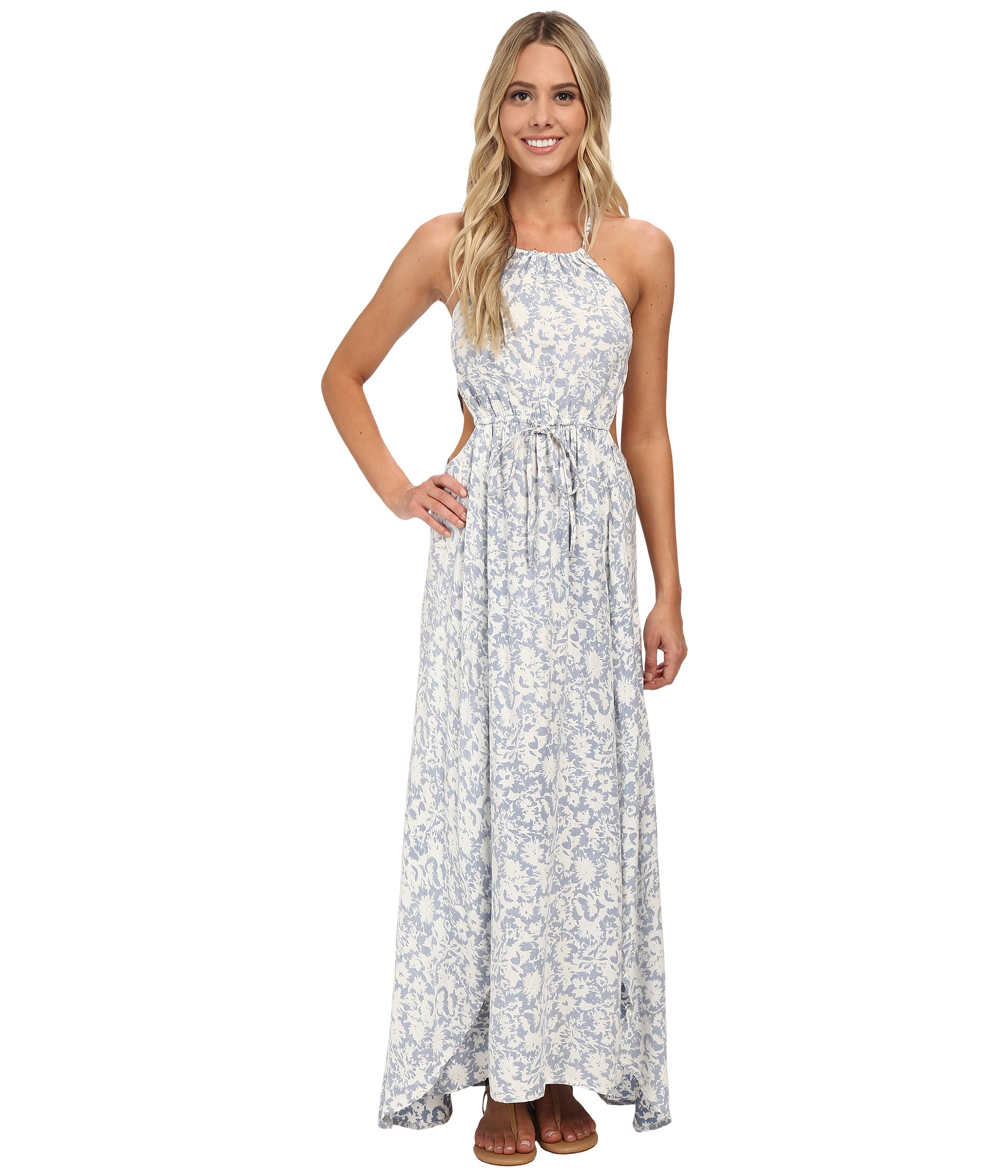 Billabong Sounds Of The Sea Maxi Dress in Blue  Lyst