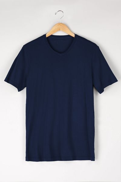 Velvet By Graham & Spencer Samsen Whisper Classic V-Neck Tee in Blue for Men (Midnight)