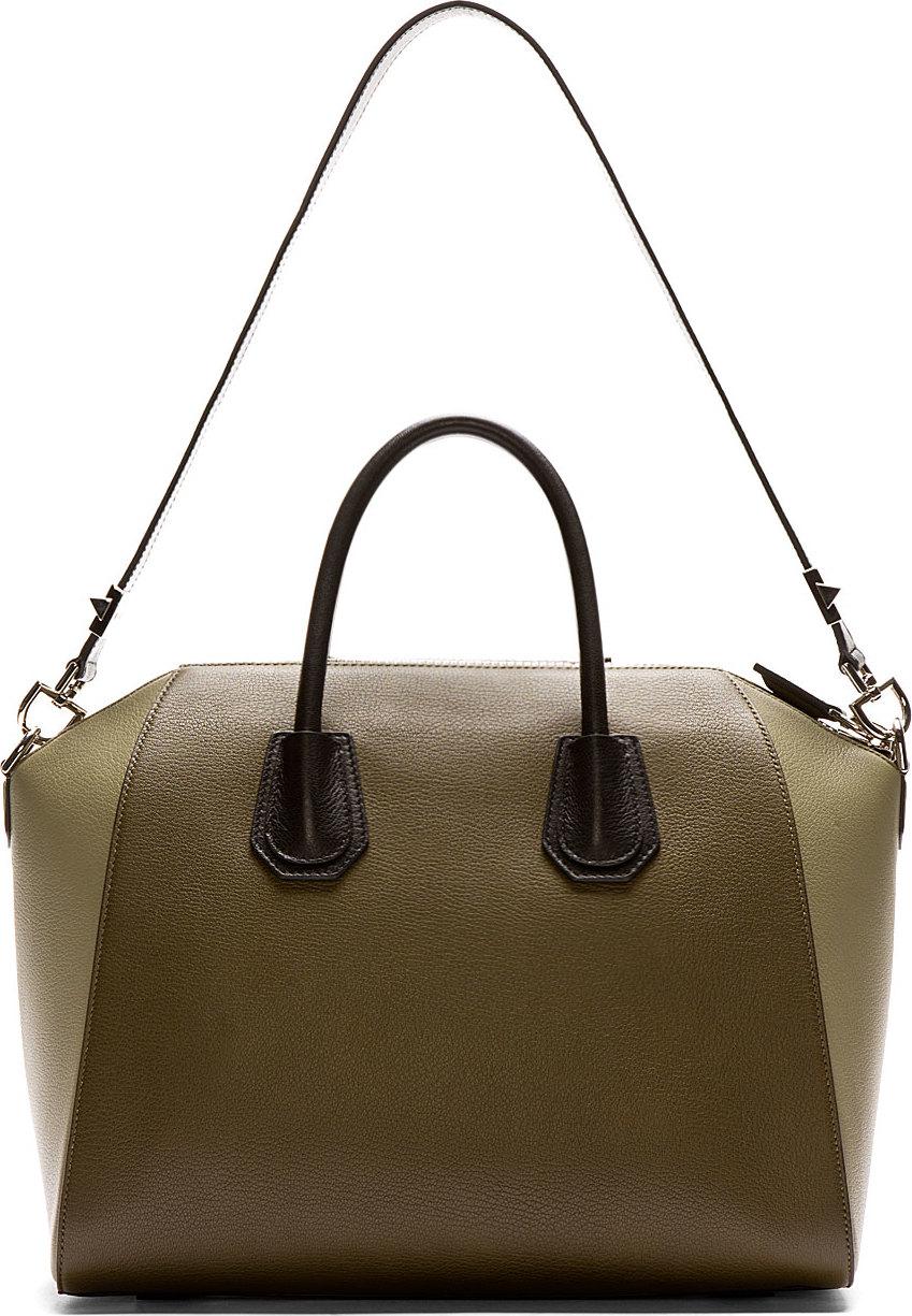d9d52f93ef01 Lyst givenchy olive leather antigona medium duffle bag in green jpg  849x1225 Givenchy medium antigona bag