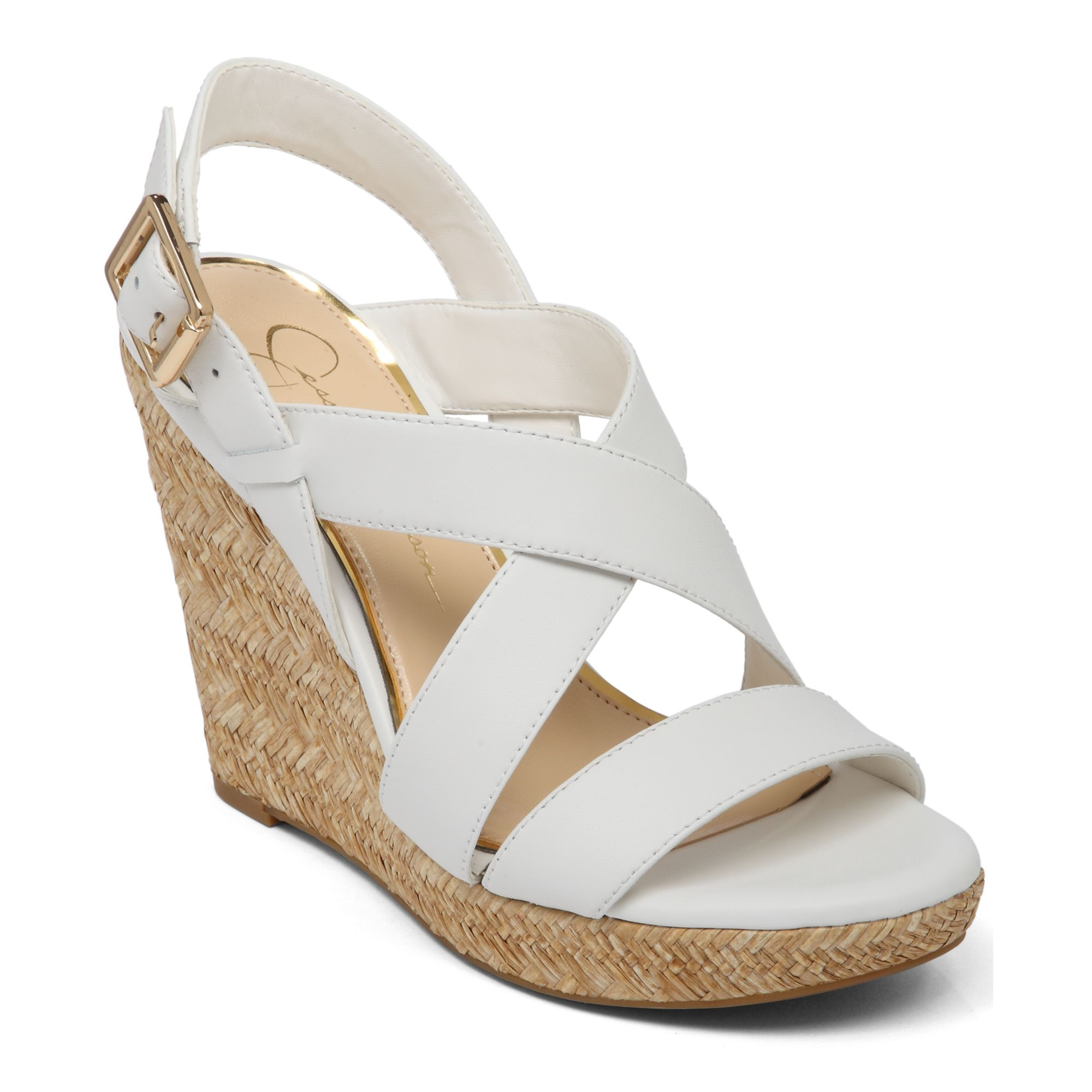 jerrimo platform wedge sandals in white lyst