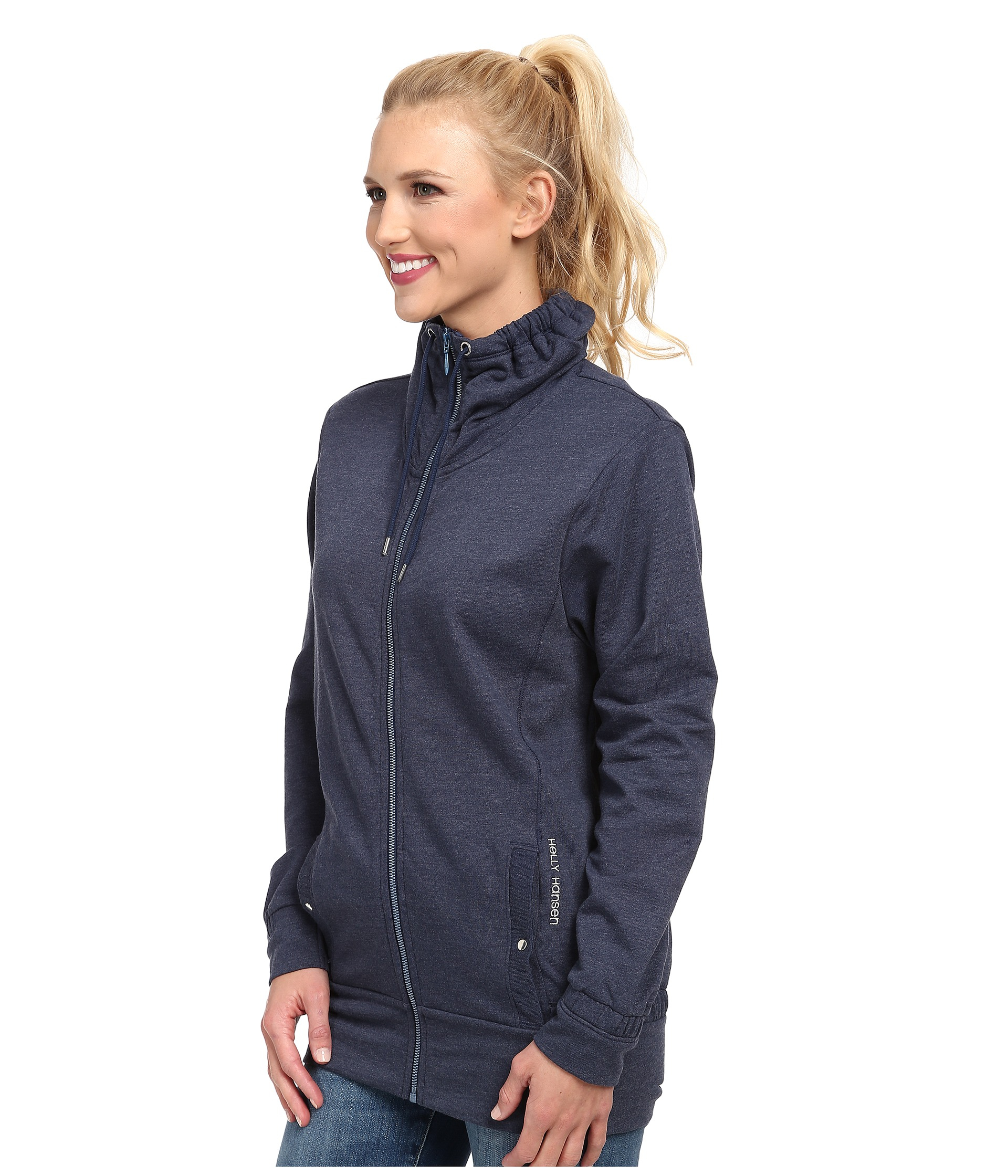 lyst helly hansen bliss full zip cardigan in blue. Black Bedroom Furniture Sets. Home Design Ideas