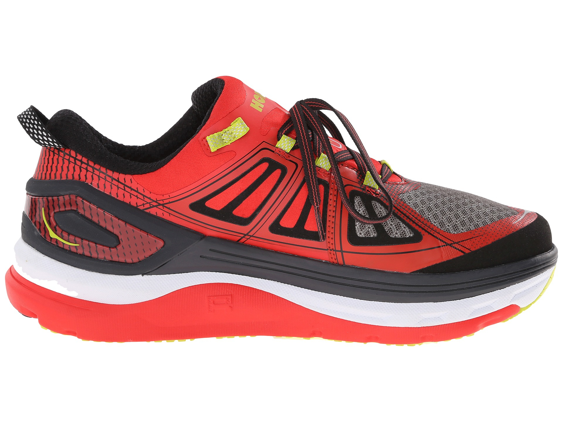 Hoka One One Constant  Men S Shoes Grey Poppy Red