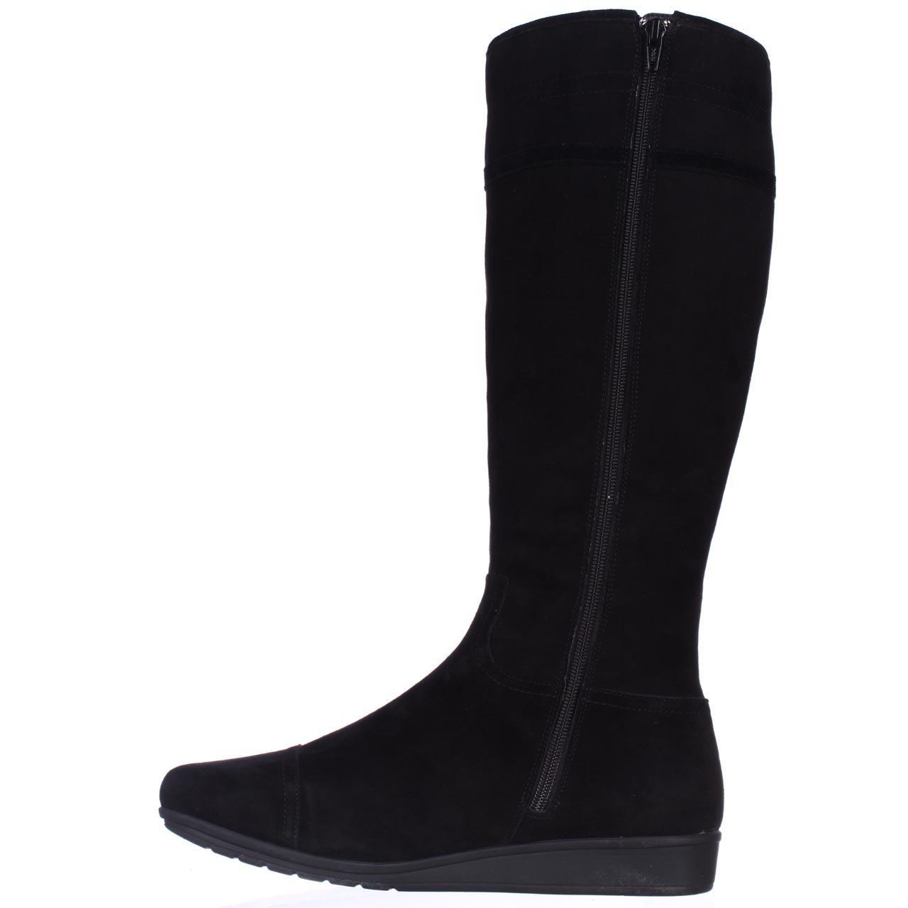easy spirit jarada wedge winter boots in black lyst