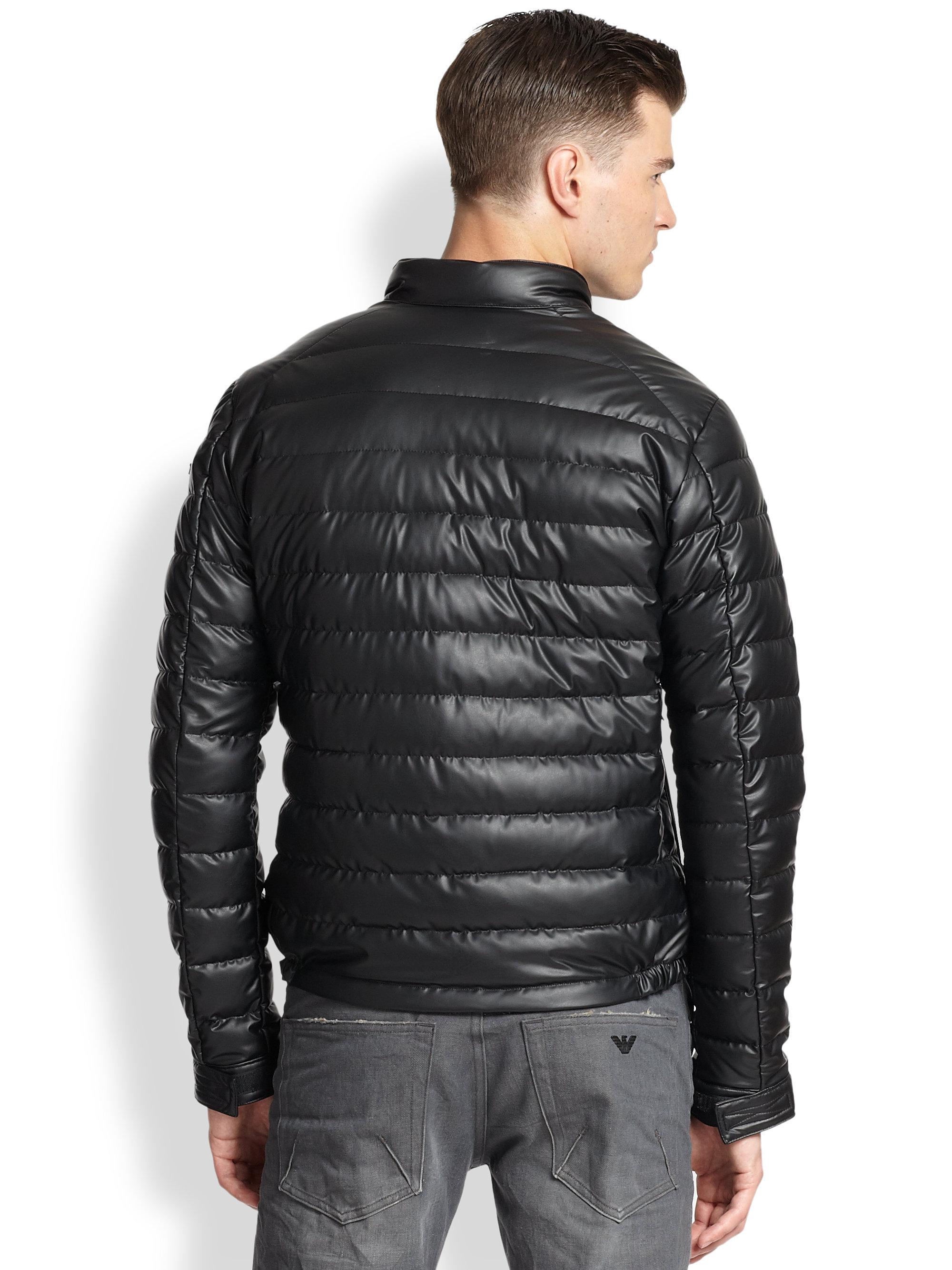 Mens Leather Moto Jacket