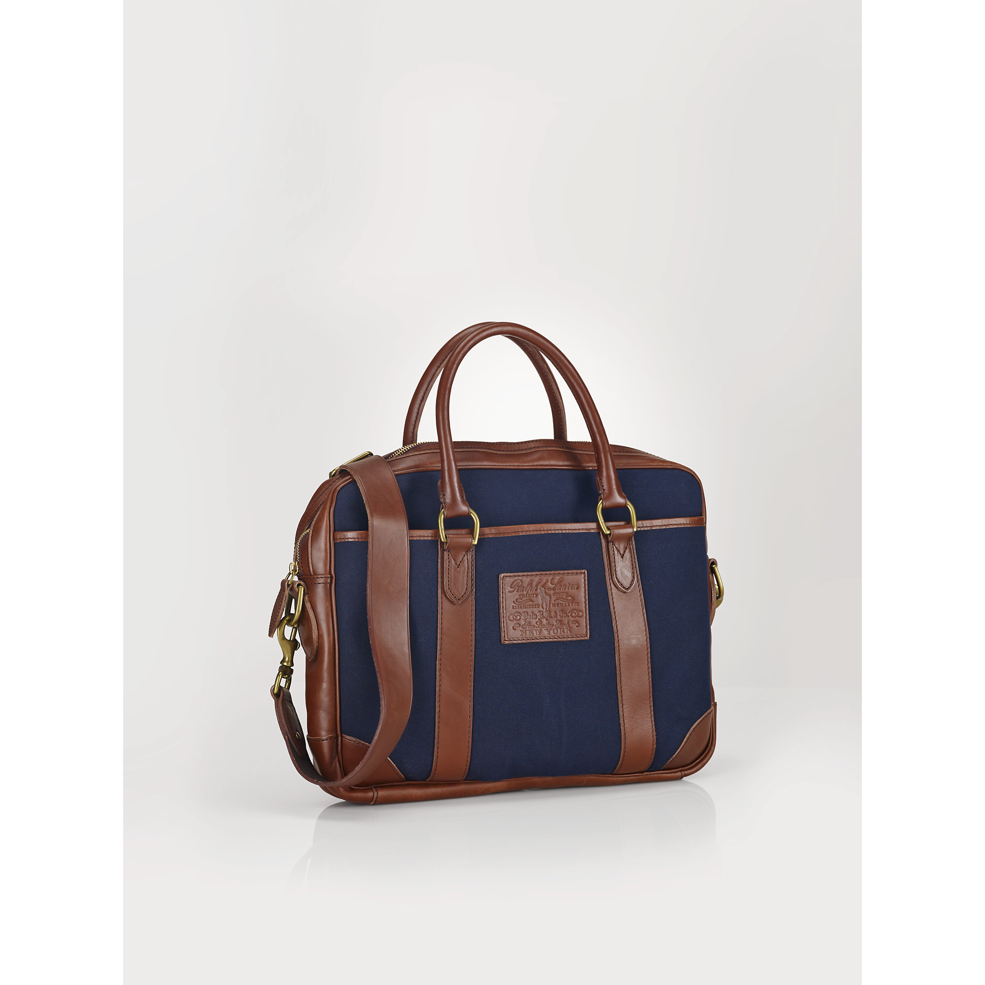 5af0b9cae253 Lyst - Polo Ralph Lauren Leather-trim Commuter Bag in Blue for Men
