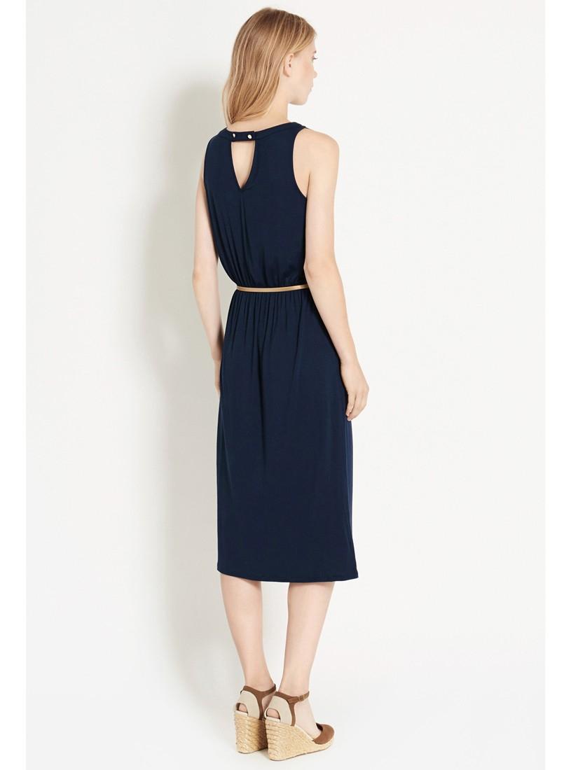139fe8df16a5 Oasis Grecian Midi Dress in Blue - Lyst