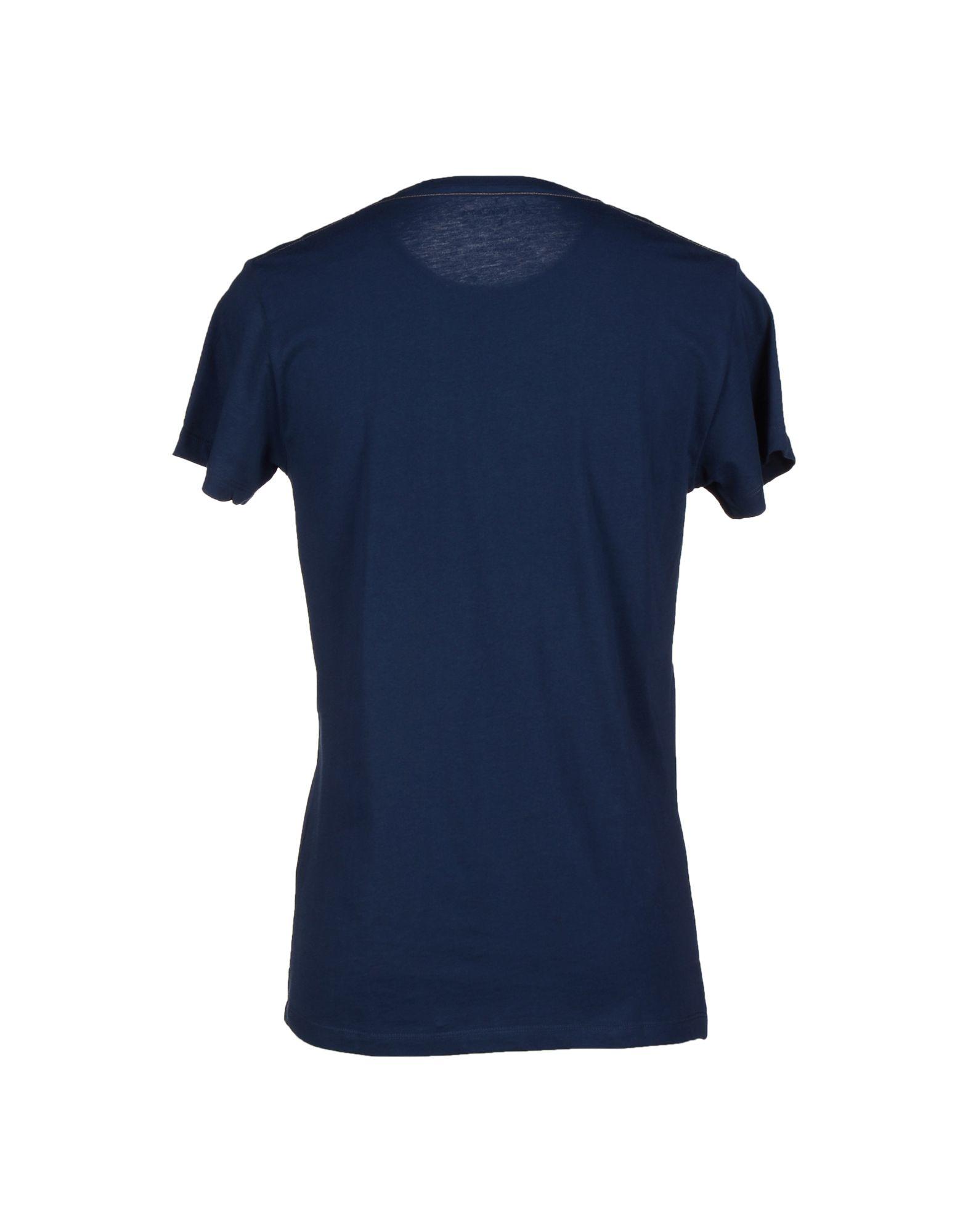 calvin klein jeans t shirt in blue for men lyst. Black Bedroom Furniture Sets. Home Design Ideas