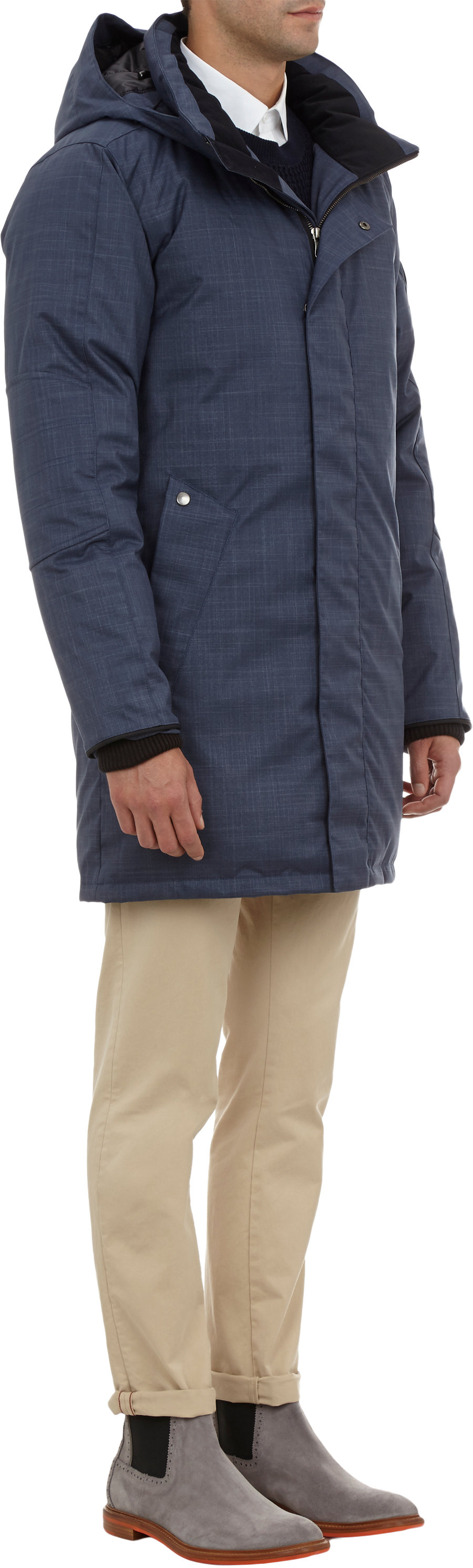 canada goose barrett coat in blue for men lyst