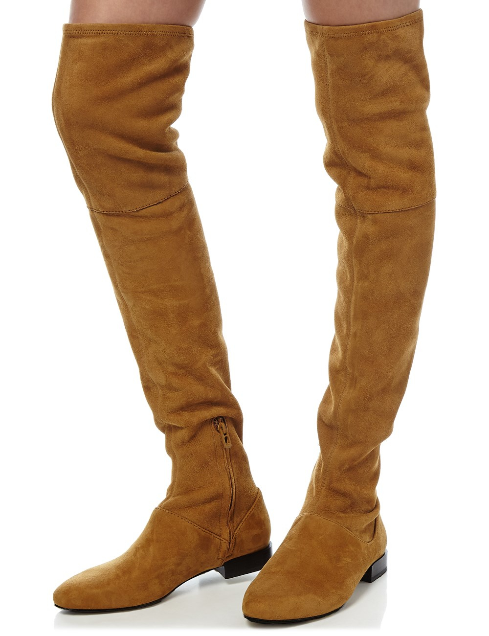 3.1 phillip lim Oak Suede Thigh High Louie Boot in Brown | Lyst